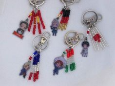 Hetalia Keychains with Country Flags!  China, Germany, Japan, France and Italy.