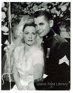 Glenn Ford's first marriage was to dancer Eleanor Parker.  He would be subsequently married a few more times.