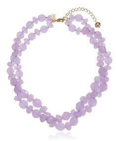 """Kate Spade New York """"Give It A Swirl"""" twisted bead necklace in lilac. For when you want to throw on a pop of color."""
