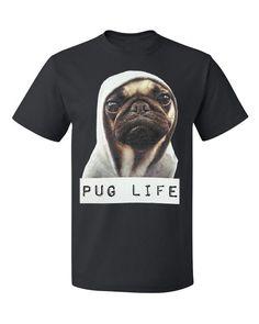 Pug Life Tshirt by RoloWear Small thru 6 XLarge by RoloWear, $14.99