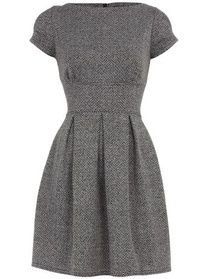 Classic Tweed Dress. I could so much with this... just wish the neckline wasn't so high.
