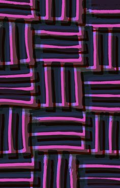 Purple painted and digital pattern - Sarah Bagshaw