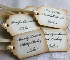 Listing For Amy G.  Wedding Place Tags  Wedding by teatimeandroses, $50.00