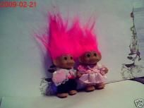 NEW FLOWER GIRL & RING BEARER TROLL SET W/PINK HAIR