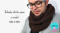 Tutorial bufanda infinita unisex a crochet