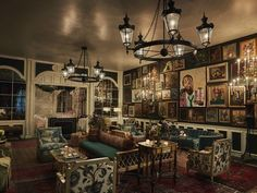 Established in 1927, New Orleans' Pontchartrain Hotel's newly renovated Caribbean Room.