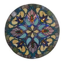 Tiffany Stained Glass Panel