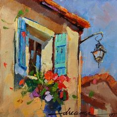 France, Friends, and Sunshine, painting by artist Dreama Tolle Perry