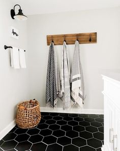 My Favorite Paint Colors (Sherwin Williams) in my Home Hang Towels In Bathroom, Bamboo Bathroom, Bathroom Kids, Garage Bathroom, Bathrooms, Favorite Paint Colors, Turkish Towels, Master Bath, Bath Remodel