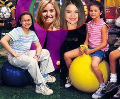 Throwback selena and Demi on Barney!