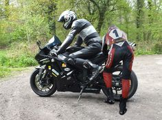 Biker in Leder