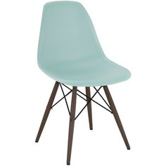 Mid-century Surfin Side Chair with Walnut Wood Base (Set of 5) - Overstock™ Shopping - Great Deals on Dining Chairs