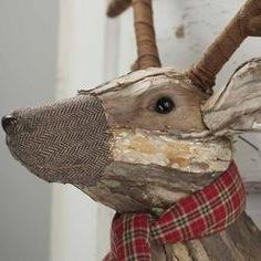 LARGE Trophy Wall Deer Head Made of Rustic Wood and Other Material for Christmas, Man Cave, Rec Room, Lodge Look TII http://www.amazon.com/dp/B00ZX5980K/ref=cm_sw_r_pi_dp_CQ.hwb11YPT98