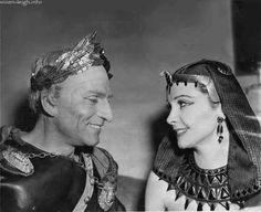 """Laurence Olivier and Vivien Leigh, circa 1951, starring in """"Caesar & Cleopatra,"""""""