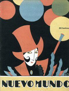 covers for the Spanish magazine Nuevo Mundo. 1923, illus. Romà Bonet aka BON