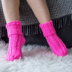 Gifts for women Pink Womens wool socks Girls socks Slipper