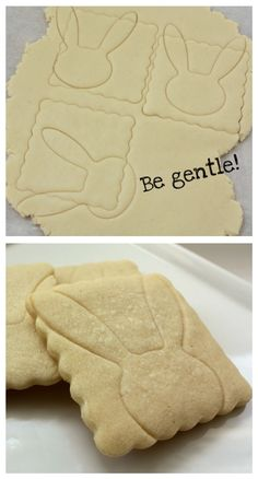 Use a bunny cutter to make an impression
