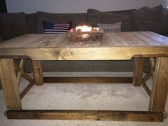 Pallet coffee table $150