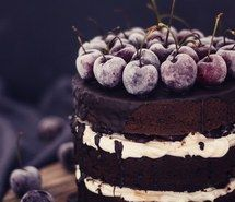 Inspiring image cake, cherries, cherry, chocolate, chocolate cake, cream, delicious, food #2999480 by violanta - Resolution 600x868px - Find the image to your taste