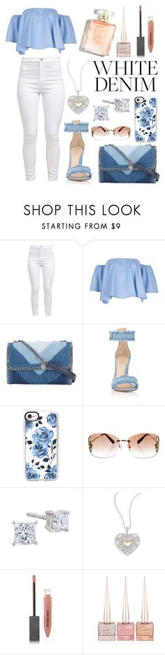 """""""White Denim 💭"""" by kakoproduction ❤ liked on Polyvore featuring STELLA McCARTNEY, Gianvito Rossi, Casetify, Louis Vuitton, Effy Jewelry, Burberry, Christian Louboutin, cute, women and polyvorefashion"""