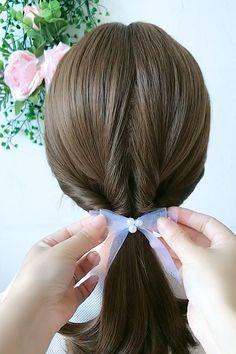 Easy Hairstyles For Thick Hair, Easy And Beautiful Hairstyles, Hair Tutorials For Medium Hair, Hairdo For Long Hair, Braids For Short Hair, Up Hairstyles, Pretty Hairstyles, Front Hair Styles, Medium Hair Styles