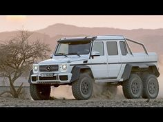 Mercedes-Benz G63 AMG 6×6 A Mercedes twin-turbo G-Wagen outfitted in full AMG spec is one serious SUV but when they add an extra axle and make the G63 into a lifted, 6-Wheel drive dune jumper, they're joking, right? Apparently not. MB plans to produce 20-30 units of the new 6X6 this year.