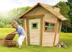 Kinder-Spielhaus Axi ALICE Comic Kinderspielhaus aus Holz Unentdeckte, phantastische Möglichkeiten Denken Sie nur mal über die Möglichkeiten nach, die Ihr Kind erhält, wenn es mit so einem Haus in Ihrem Garten spielen kann.