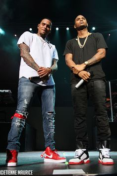 Chris Brown in the Supreme x Nike Air Force 1 High and Trey Songz in the Givenchy Tyson High Top