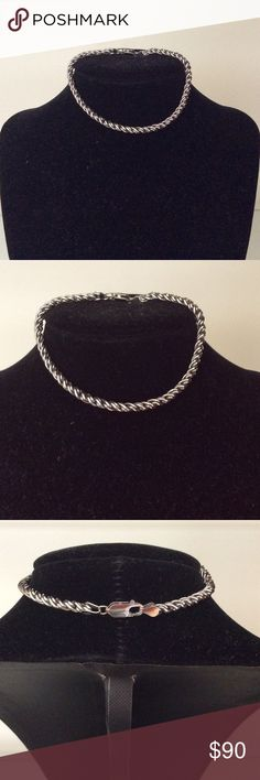 """NWOT 9"""" Oxidized Sterling Silver Rope Bracelet 9"""" Oxidized Sterling Silver Rope Bracelet with 925 Sterling Mark.  Lobster Claw Clasp Accessories Jewelry"""