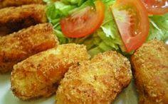 Bolinho assado de batata doce com frango