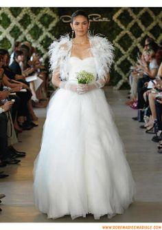 Boutique robe de mariage blanche 2013 originale avec boléro tulle