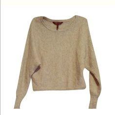 BCBGMAxAzria Camille Sweater Gently worn with a few pills. Looks stunning on, with the unique way the sleeves fall. Sized xxs but could fit anyone from xs to s easily. Please message me an offer, I am willing to negotiate!! BCBGMaxAzria Sweaters