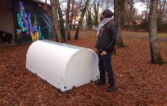 Un ingénieur teste à Paris et Bordeaux des abris isolés pour les SDF