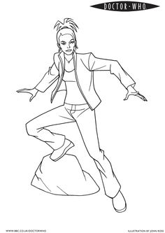 martha jones coloring page doctor who makes torchwood
