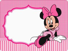 minnie pink squares free printable candy bar labels for Mickey E Minnie Mouse, Disney Mickey, Scrapbook Da Disney, Miki Mouse, Comic Party, Beatles Party, Candy Bar Labels, Minnie Birthday, Mouse Parties
