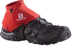 salomon trail gaiters low bright red shoes