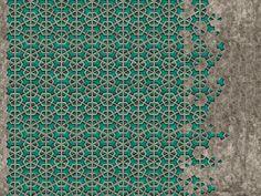 Carta da parati a motivi effetto muro geometrica EXA by Wall&decò design Giovanni Pesce