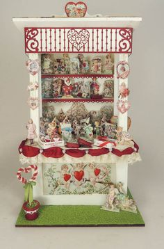 1/12 Scale Valentines Market Stall Online Class and Kit