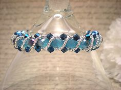 The Stella Turquoise and Metallic Blue by NiteDreamerDesigns