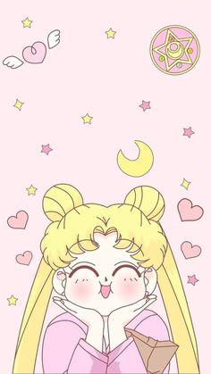 Usagi sailor moon wallpaper for phone Sailor Moon Crystal, Sailor Moons, Sailor Moon Fond, Arte Sailor Moon, Sailor Moon Usagi, Kawaii Wallpaper, Cartoon Wallpaper, Iphone Wallpaper, Trendy Wallpaper