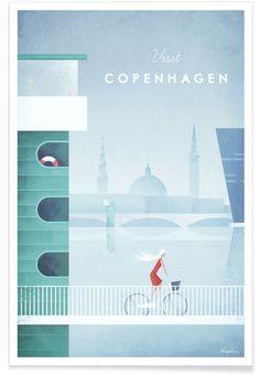 Copenhagen als Premium poster door Henry Rivers | JUNIQE