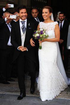YolanCris | Lola Escobedo elige el vestido de novia Valdivia de YolanCris para su boda con David De María
