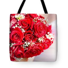Wedding Roses Gift Bag featuring the photograph Floral Rose Boquet Held By Bride by Ryan Jorgensen Ladies Accessories, Fashion Accessories, Rose Boquet, Rose Gift, Rose Wedding, Bag Sale, Hold On, Photograph, Roses