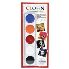Color Palette Clown Makeup