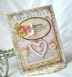 A Project by iralamija from our Scrapbooking Cardmaking Galleries originally submitted at AM Valentine Day Cards, Valentine Crafts, Valentines, Pretty Cards, Love Cards, Paper Cards, Diy Cards, Card Making Designs, Shabby Chic Cards