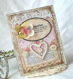 Heartfelt Handmade Card by iralamijashop on Etsy, $7.00
