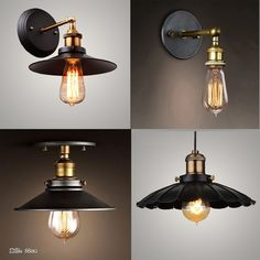 Modern Brief  Ceiling Light Edison bulb North European Vintage Iron lamp bedroom lamp bar lighting black Ceiling lights