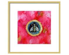 https://www.etsy.com/listing/94322265/bee-watercolor-art-print-bee-wall-decor