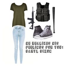 """""""He Realizes His Feelings For You: Daryl Dixon"""" by mcglitterpawz ❤ liked on Polyvore featuring art"""