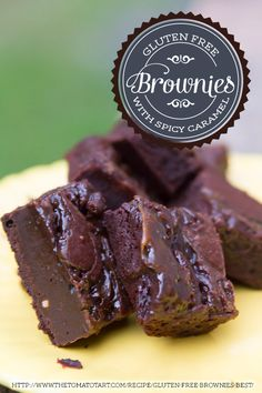 Gluten Free Brownies with Spicy Caramel - I am DROOLING